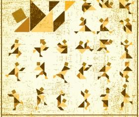 Set of Various Tangram figure vector 02