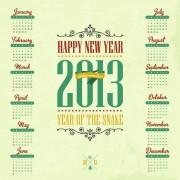 Link toVintage 2013 calendar design vector material