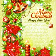Link toSet of vintage christmas and new year 2013 decor illustration vector 06