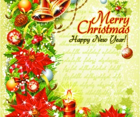 Set of Vintage Christmas and New Year 2013 decor Illustration Vector 06