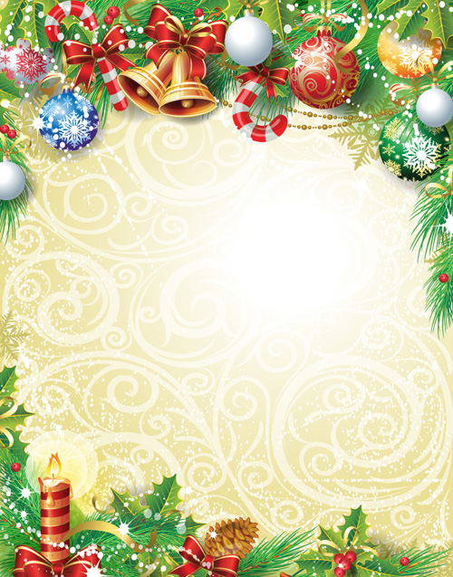 Set of Vintage Christmas and New Year 2013 decor Illustration Vector 08
