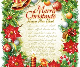 Set of Vintage Christmas and New Year 2013 decor Illustration Vector 09