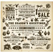 Link toVintage hand drawn new year and christmas ornaments vector set 03