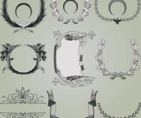 Vintage Symbols and Decoration Patterns vector set 02