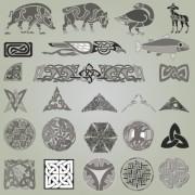 Link toVintage symbols and decoration patterns vector set 03
