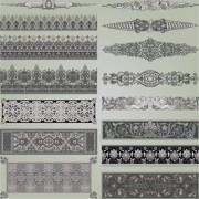 Link toVintage symbols and decoration patterns vector set 04