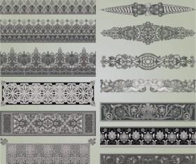 Vintage Symbols and Decoration Patterns vector set 04