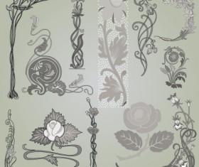Vintage Symbols and Decoration Patterns vector set 05