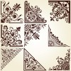 Vintage pattern area Borders and ornaments vector 01
