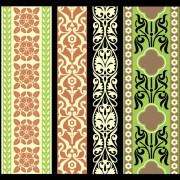 Link toElements of vintage frames pattern vector material 01