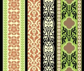 Elements of Vintage frames pattern vector material 01