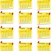 Link toVector set of wall calendar 2013 design elements 01