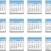 Link toVector set of wall calendar 2013 design elements 05