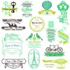 Set of Wedding logo Design Elements vector 01