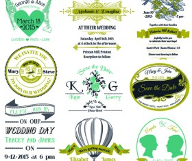 Set of Wedding logo Design Elements vector 02