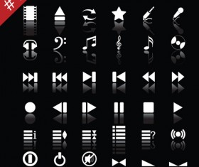 commonly White web icon vector set 01