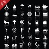 commonly White web icon vector set 03