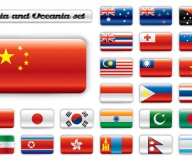 Set of World Flags Icons mix design vector 03
