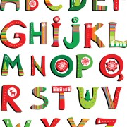 Link toElements of creative xmas alphabet vector set 03