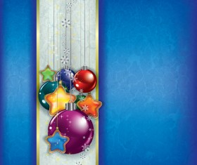 ornate Xmas balls decorations design vector set 04