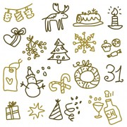 Link toCute xmas icons mix vector graphics 04