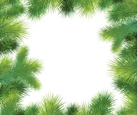 Set of Christmas needles frames vector material 02