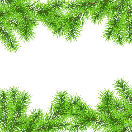 Set of Christmas needles frames vector material 03