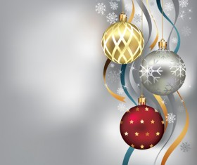 Brilliant Xmas balls ornaments design vector set 01