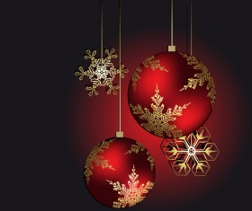 Brilliant Xmas balls ornaments design vector set 06