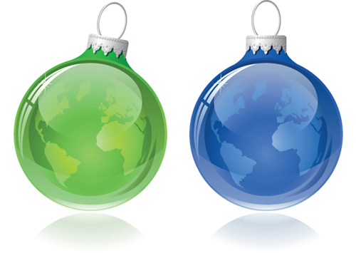 ornate Xmas balls Ornaments elements vector material 11