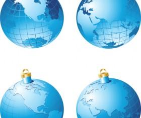 ornate Xmas balls Ornaments elements vector material 12