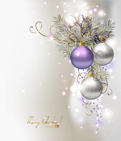 ornate Xmas balls Ornaments elements vector material 15