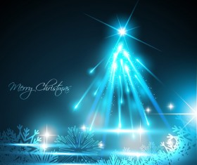 Shiny Xmas Winter Snowflake background vector 01