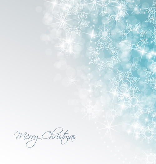 Shiny Xmas Winter Snowflake Background Vector 03
