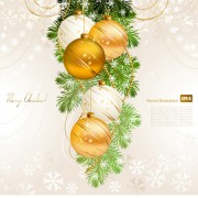 Link toSet of brilliant xmas background vector art 08