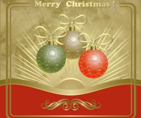 Vector set of Xmas Greeting Cards design 01