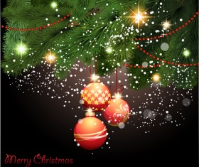 Vector set of Xmas Greeting Cards design 05