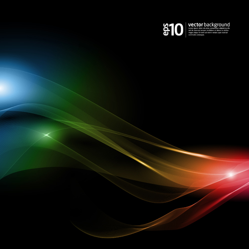 Light with dynamic lines vector backgrounds art 05