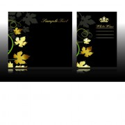 Link toSet of black glossy gift cards design vector 01