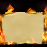 Link toSet of burning old paper design vector 04