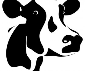 Different Dairy cow design vector graphics 01