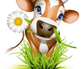 Different Dairy cow design vector graphics 02