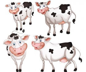 Different Dairy cow design vector graphics 03