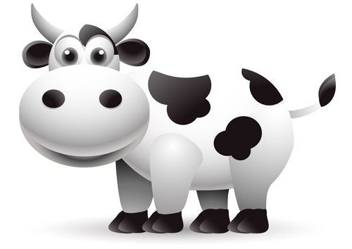 Different Dairy cow design vector graphics 05