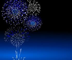 Colorful Festive fireworks design vector set 05