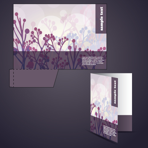How To Make Covered Files: Abstract Folder Cover Design Vector Set 01