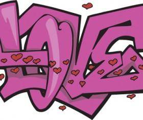 Funny graffiti alphabet design vector 17