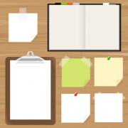 Link toDifferent blank paper vector material set 01