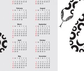 Creative Snake calendar 2013 design vector set 01