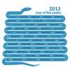 Creative Snake calendar 2013 design vector set 04
